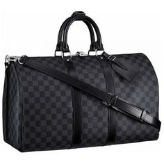 e86b0d639a8 Louis Vuitton Damier Graphite Keepall 45 18926716 Louis Vuitton Suitcase, Louis  Vuitton Handbags Black,