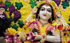 To view Radha Close Up Wallpaper of ISKCON Chowpatty in difference sizes visit - http://harekrishnawallpapers.com/srimati-radharani-close-up-wallpaper-060/