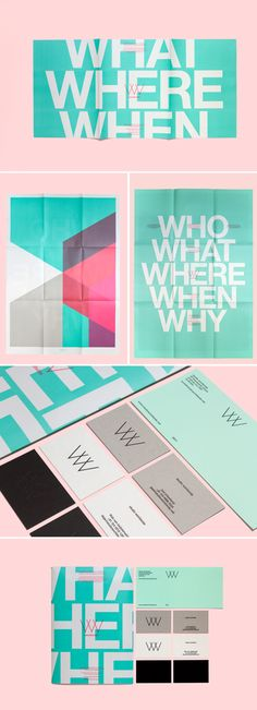 Who What When Where Why Pastel Themed Print Design
