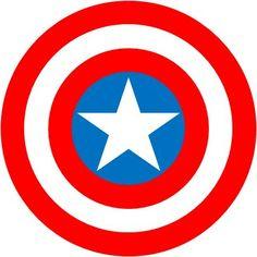 Resultado de imagen para escudo del capitan america dibujo