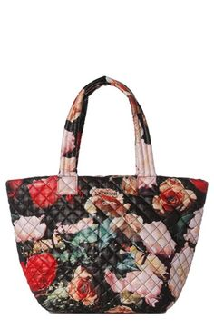 MZ Wallace  Medium Metro  Floral Quilted Nylon Tote (Nordstrom Exclusive)  available at 26bc630de5ce3