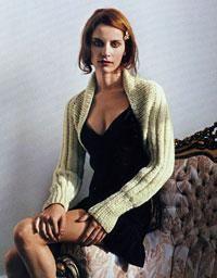 Knit a ribbed shrug - Canadian Living Diy Crafts Knitting, Knitting Yarn, Hand Knitting, Shrug Knitting Pattern, Knit Shrug, Knitting Patterns, Bridal Shrug, Shrugs And Boleros, Crochet Wool