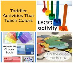 Toddler Activities That Teach Colors | TinyTotties.com #tinytotties #colors