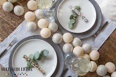 Decorative dining or wedding table lights. With their USB plug, they can be powered by a portable mobile phone charger for hours of ambiance and magical illumination. With the included adapter, they can also be plugged into a normal wall-socket.