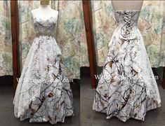 New- Lace over Camo wedding dress- custom made to your measurements- your choice of camo-- contact us through www.WeddingsByBecky.com