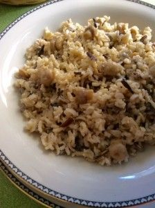 Basmati Brown and Wild Rice with button Mushrooms