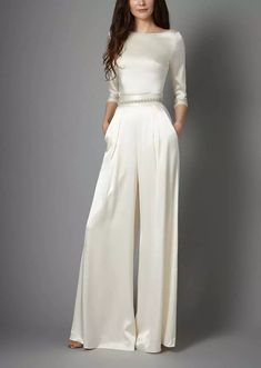For the bride who prioritizes comfort. (And cool girl cred.) 16 Dreamy Boatneck Wedding Dresses Source by purewow dress Wedding Dress Trends, Wedding Dress Styles, Wedding Attire, Wedding Gowns, Dream Wedding Dresses, Wedding Dress Casual, Wedding Dress Separates, Casual Bride, Bridal Gown