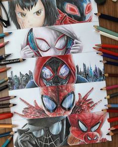 Spiderman into the spiderverse Marvel Vs, Marvel Memes, Marvel Dc Comics, Spiderman Art, Amazing Spiderman, Spiderman Images, Spiderman Drawing, Marvel Drawings, Spider Verse