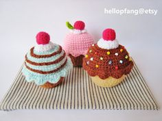 Cupcakes Crush  PDF Crochet Pattern by Pfang on Etsy