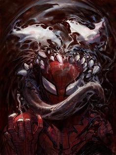 Eddie - Peter by Nisachar on DeviantArt Marvel Villains, Marvel Comics Art, Marvel Characters, Marvel Dc, Hulk Logo, Comic Books Art, Comic Art, Venom Spiderman, Spectacular Spider Man