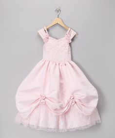 SO PRETTY! Formal partywear - Pink Pickup Dress - by Lida: Kids' Partywear on #zulily today!