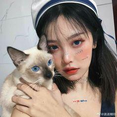 Korean Girl Cute, Korean Girl Ulzzang, Ulzzang Girl Fashion, Pretty Korean Girls, Asian Girl, Woman Fashion, Ulzzang Makeup, Girl Korea, Image Originale