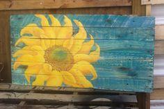 Cheddar Fresh Sunflower.Original Acrylic hand by FunkNThrash