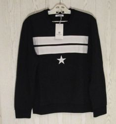 ffd2e1625a73a Givenchy Black Star and Stripe 100% Cotton Jumper Sweater size L Rottweiler   Givenchy