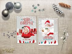Rustic Christmas Photo Card REPIN NOW, check it later! Printable Holiday Photo Card Family Christmas card Custom Xmas card Two Sided Photo Greeting card Digital File by Digart Designs  $12.50 ONLY