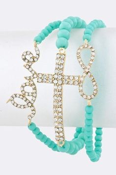 LOVE CROSS INFINITY Stacked Bracelets (Aqua) null,http://www.amazon.com/dp/B00CY52QCE/ref=cm_sw_r_pi_dp_pYRNrb1041C4479E