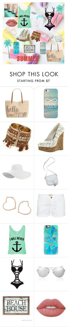 """""""Summer Fun"""" by odira ❤ liked on Polyvore featuring Style & Co., Casetify, Luis Miguel Howard, Current/Elliott, Ann Summers, Lipsy and Lime Crime"""
