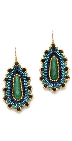 Miguel Ases Jade Drop Earrings