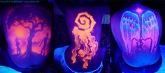 Image detail for -black light tattoo: UV backpieces
