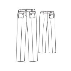 Ellen #9305 : Free pattern for dressy pants. Some people made them into shorts, I would like to make capris.