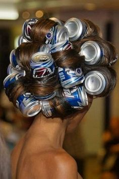 Use beer cans on long hair for those big soft curls. 44 Reasons Why Your Life Will Be So Much Easier In 2013 <3
