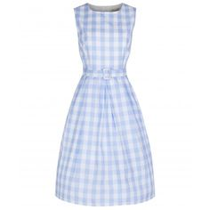 'Colette' Sky Gingham Swing Dress