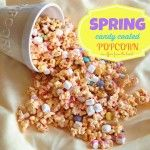 spring candy coated popcorn mix
