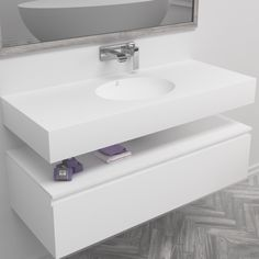 This #exclusive #design has it all Corian Sink, Countertop Basin, Countertops, Solid Surface, Corian Colors, Lavabo Design, Wall Mounted Sink, Bathroom Basin, Single Sink