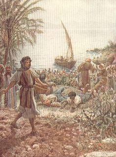 La alimentación de los multitud William Hole