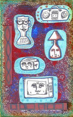Anthropomorphism. Household appliances. Art journal. Sketchbook.