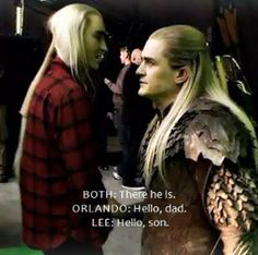 "THRANDUIL IS WEARING A FLANNEL. Rugged Reindeer King of Mirkwood. LotR (""I'm a lumberjack and I'm okay..."")"