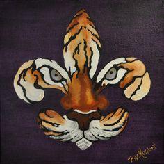 Fleur de Tigre Print by PWMorvant on Etsy