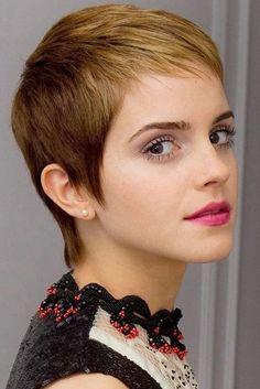 Emma Watson Short Haircut: Blond Dip Dye Ultra-short Pixie Cut