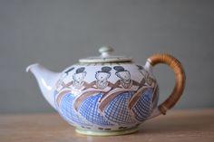 Vintage Danish - KMK Denmark - teapot - dancing girls - 1950s - Karen Margrethe Karberg - midcentury by littledanishmood on Etsy https://www.etsy.com/listing/184868192/vintage-danish-kmk-denmark-teapot