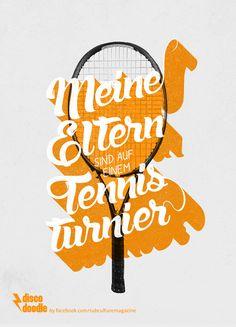 meine eltern sind auf einem tennisturnier