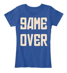 Game  Over Deep Royal  T-Shirt Front