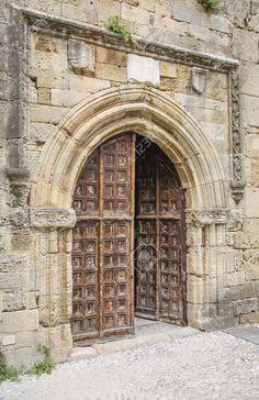 Vecchia Porta Medievale Di Rodi Città Vecchia, Grecia Foto Royalty Free, Immagini, Immagini E Archivi Fotografici. Image 29452905.
