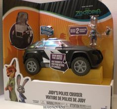 Disney *ZOOTOPIA * Movie Toy Judy's Police Cruiser w/ 2 Character Figures NEW #TOMY
