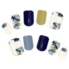 *つぶ*さんの大人風ネイル。シンプルな幾何学パターン。  #nail #naildesign #luineluine #ネイル #デザイン