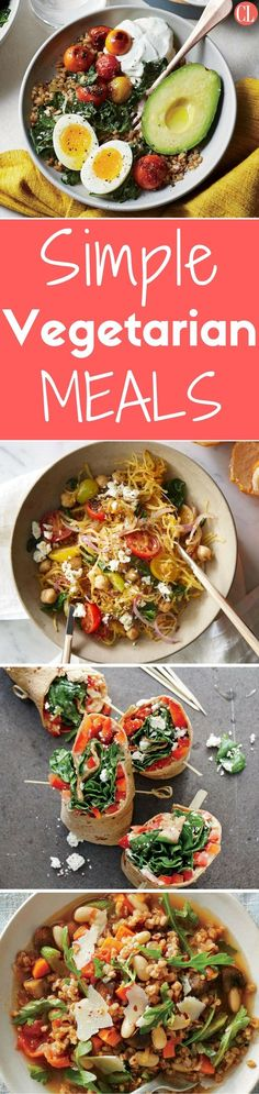 Cooking plant-based meals can be quite simple and even more delicious. Although vegetarian dishes are sometimes associated with complicated ingredients and techniques, these simple recipes are here to show otherwise. Totally veggie-friendly, and flavor packed, these easy recipes will satisfy everyone in the family, whether vegetarian or not. | Cooking Light