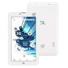 """Tablet DL TabPhone 710  Faz e Recebe Ligação com Função Celular, Tela 7"""", 3G, Dual Chip, Wi-Fi, Câmera, Android 5.0 e Processador Intel Quad Core"""