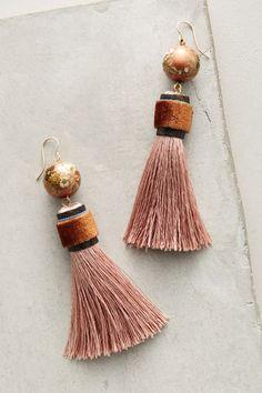 Slide View: 1: Silken Tassel Earrings