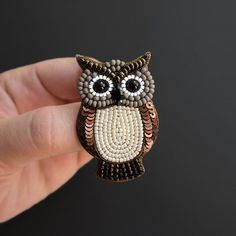 Owl brooch, Owl jewelry, Bird Brooch, Bird accessories, Bird jewelry, Animal pin, Owl gifts for women
