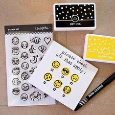 Emoji stamps are here! http://shop.abeautifulmess.com/shop/stamps/emojis