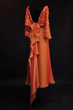 #Evening #dresses #Hillenius #Couture #Paillette #Chiffon #Gown #Mother of the #bride