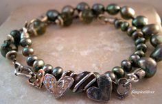 Artisan Jewelry - Valentine Bracelet - Pearl Wrap Bracelet - Dee McGetrick