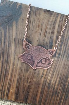 Fox Jewelry, Etch Jewelry, Copper Jewelry, Custom Jewelry by LyonsMetalJewels on Etsy https://www.etsy.com/listing/270803816/fox-jewelry-etch-jewelry-copper-jewelry