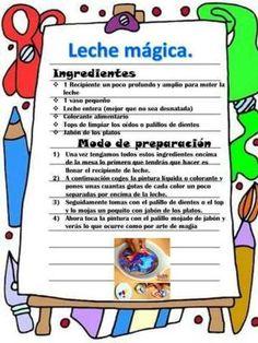 Recetas divertidas para niños - Imagenes Educativas Craft Activities For Kids, Science Activities, Science Experiments, Procedural Text, Diy For Kids, Crafts For Kids, Fun Crafts, Diy And Crafts, Party Deco