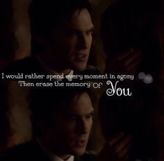 awww. Damon. That speech was too adorable.
