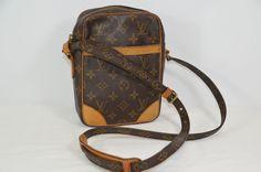 Louis Vuitton Brown Leather Monogram Women's Cross Body Bag On Sale sn #LouisVuitton #MessengerCrossBody